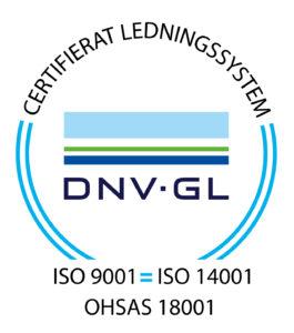 Certifieringsmärke ISO9001 ISO14001 OHSAS18001